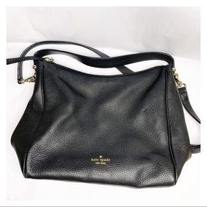 Kate Spade Pebbled Leather Crossbody Purse Black